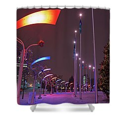 Shower Curtain featuring the photograph Silent Night.. by Nina Stavlund