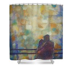 Silent Night Shower Curtain by Raymond Doward