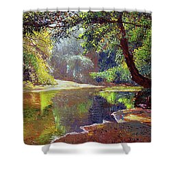 Silent River Shower Curtain