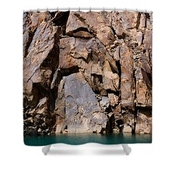 Silent Rocks Shower Curtain by Konstantin Dikovsky