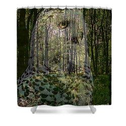 Silent Sentinel Shower Curtain by Priscilla Richardson