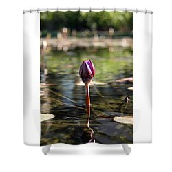 Silent. Shower Curtain