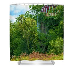 Silent Silo On Nottleson Road Shower Curtain by Trey Foerster