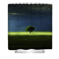 Silent Solitude Shower Curtain