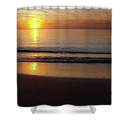 Silent Sunset Shower Curtain