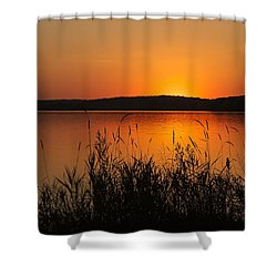 Silent Sunset Shower Curtain