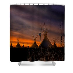 Silent Teepees Shower Curtain by Paul Sachtleben