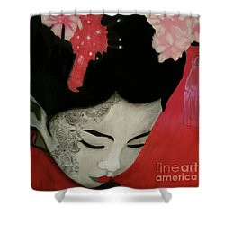 Silent Thoughts Shower Curtain
