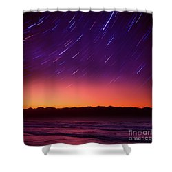 Silent Time Shower Curtain by Tatsuya Atarashi