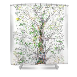 Silent Witness Shower Curtain by Regina Valluzzi