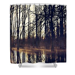 Silent Woods #4 Shower Curtain