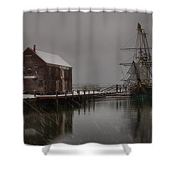 Silently The Snow Falls. Shower Curtain by Jeff Folger