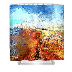 Silex Hot Springs Abstract Shower Curtain