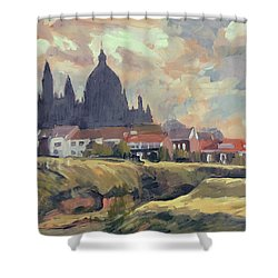 Silhouet Saint Lambertus Church Maastricht Shower Curtain