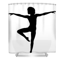 Silhouette 24 Shower Curtain