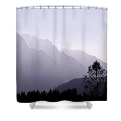 Silhouette Austria Europe Shower Curtain by Sabine Jacobs