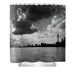 Silhouette Cn Tower Shower Curtain