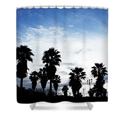Silhouette In Tropea Shower Curtain