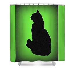 Shower Curtain featuring the photograph Silhouette by Karen Shackles