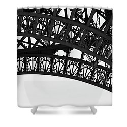 Silhouette - Paris, France Shower Curtain