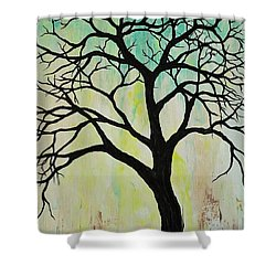 Silhouette Tree 2018 Shower Curtain