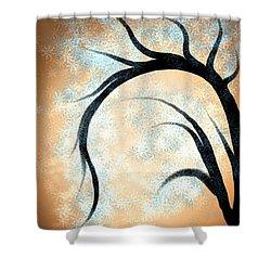 Silhouette Tree Shower Curtain