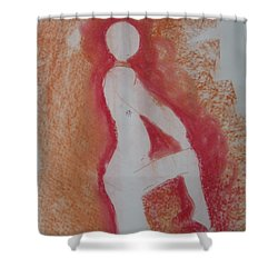 Silhouetted Figure Shower Curtain by AJ Brown