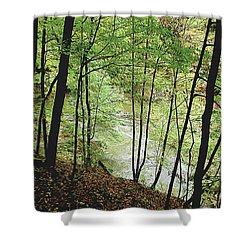 Silhouetted Trees Shower Curtain