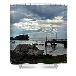 Silhouetted Views From Bustin's Island In Maine Shower Curtain