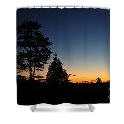 Silhouettes Shower Curtain by Joe  Ng
