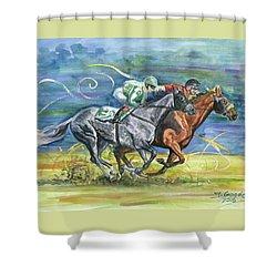 Silk Glamour Shower Curtain by Jana Goode
