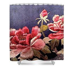 Silk Peonies - Kimono Series Shower Curtain