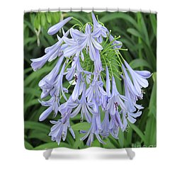 Silky Blue Blossoms Shower Curtain