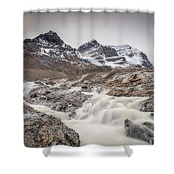 Silky Melt Water Of Athabasca Glacier Shower Curtain
