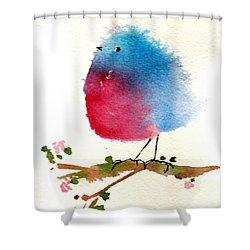 Silly Bird #1 Shower Curtain