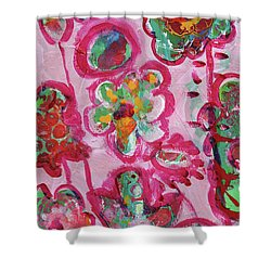 Silly Flowers Shower Curtain