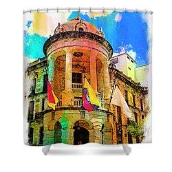 Silly Hall, Cuenca, Ecuador Shower Curtain