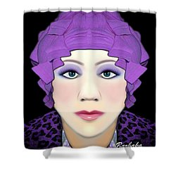 Shower Curtain featuring the photograph Silly Headdress by Barbara Tristan