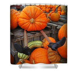 Silly Pumpkin Shower Curtain