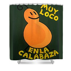 Silly Squash Shower Curtain by Oliver Johnston