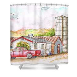 Silo In Los Olivos, California Shower Curtain