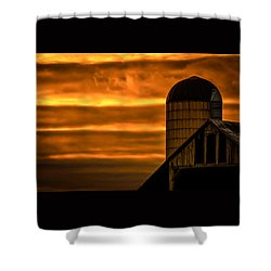 Silo Sunset Shower Curtain