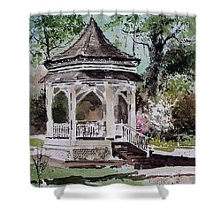 Siloam Springs Park Shower Curtain by Monte Toon