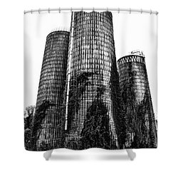 Silos Shower Curtain by Tamera James