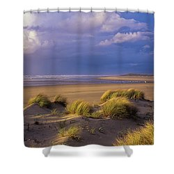 Siltcoos River Mouth Shower Curtain