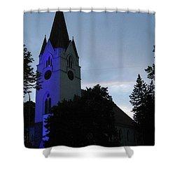 Silute Lutheran Evangelic Church Lithuania 01 Shower Curtain by Ausra Huntington nee Paulauskaite