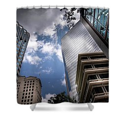 Silver And Blue In Charlotte Shower Curtain