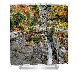 Silver Cascade Waterfall Shower Curtain