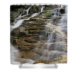 Silver Cascades - Crawford Notch New Hampshire Shower Curtain by Erin Paul Donovan