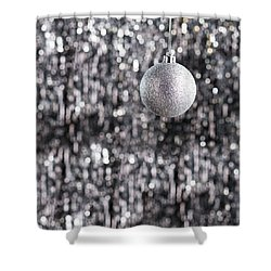 Shower Curtain featuring the photograph Silver Christmas by Ulrich Schade